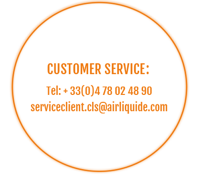 Customer service contact : +33(0) 4 78 02 48 90 / serviceclient.cls@airliquide.com